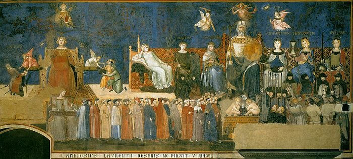700px-Lorenzetti_Amb._allegory-of-good-government-_1338-39.