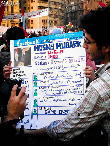 Facebook-Mubarak