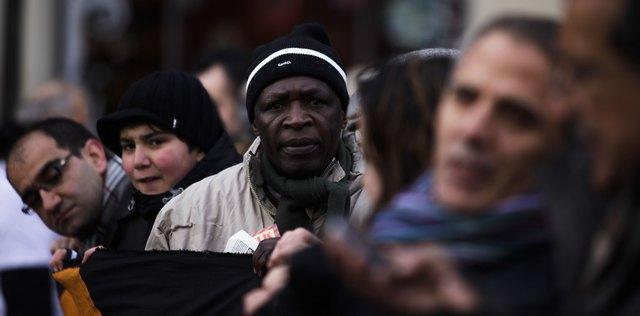 Мигранты на демонстрации в защиту своих прав в Берлине, декабрь 2010 года.  Фото: Markus Schreiber/AP Photo