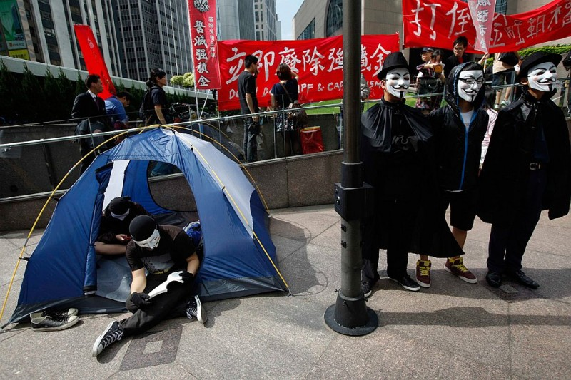 Демонстрация в Гонконге, 15 октября 2011 года. Фото: Tyrone Siu | Reuters
