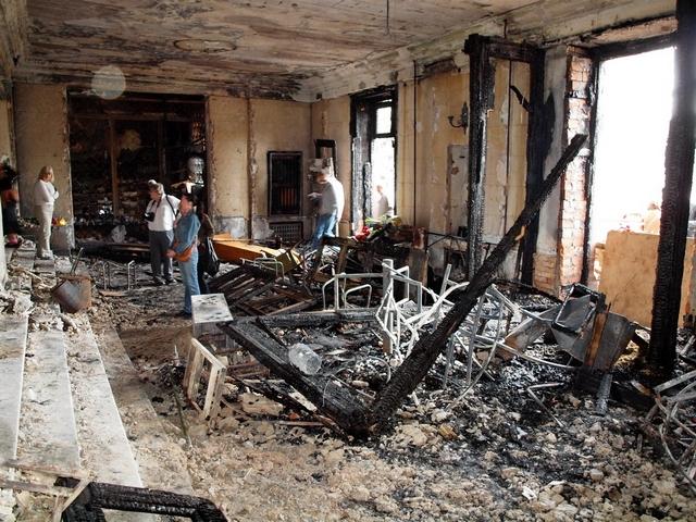 В одесском Доме профсоюзов после трагедии, 3 мая 2014 г.  Фото: Артемий Глазунов