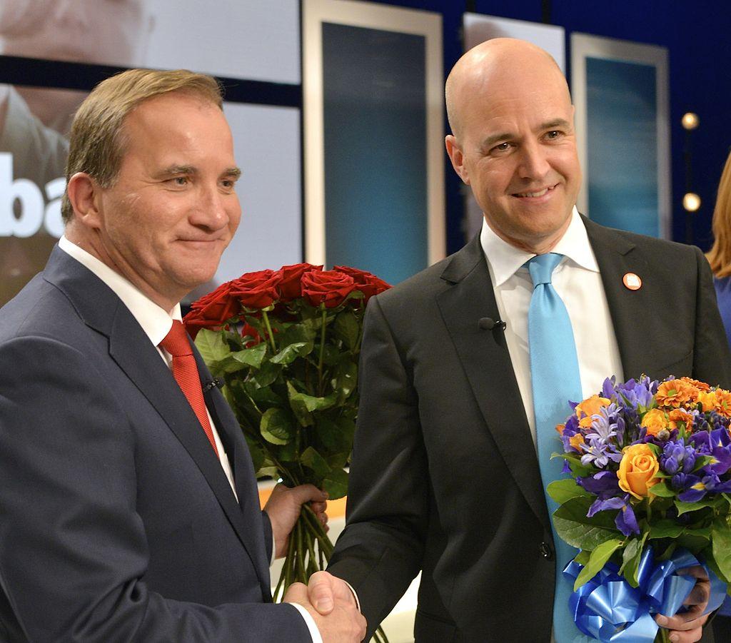 Stefan_Löfven_och_Fredrik_Reinfeldt_efter_slutdebatten_i_SVT