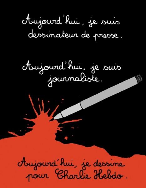 """Мартин ВИДБЕРГ: """"Сегодня я карикатурист в редакции газеты. Сегодня я журналист. Сегодня я рисую для Charlie Hebdo""""."""
