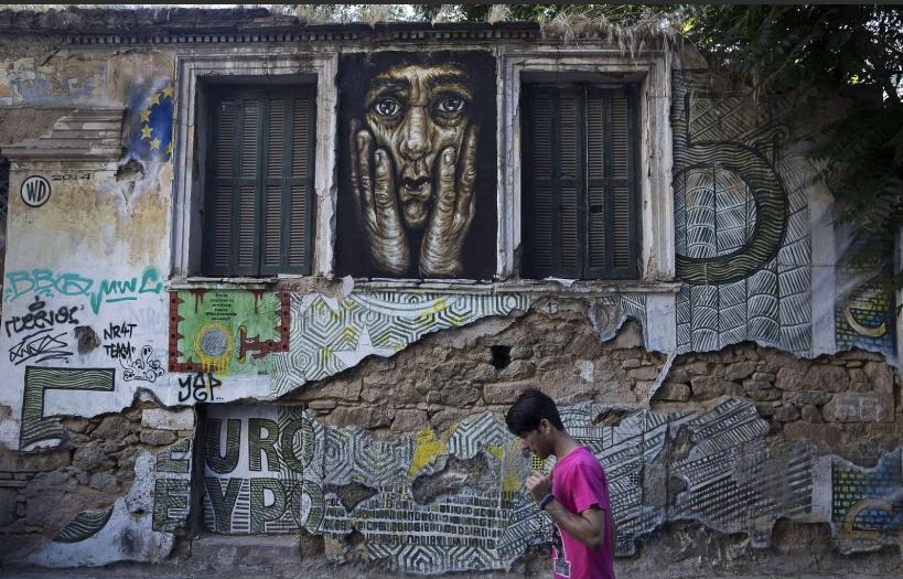 """5 €"" © Wild Drawing. Фото: Petros Giannakouris / AP / SIPA"