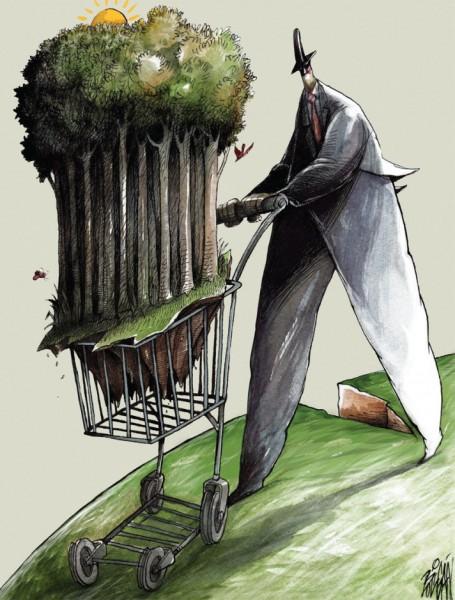 Фрагмент обложки Canadian Dimension - журнала канадских левых