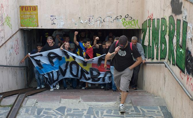 Марш сторонников объединения Молдавии и Румынии. Фото: Вадим Денисов/ ТАСС
