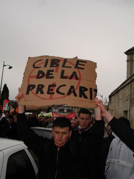 Демонстрация протеста против прекаризации. Суассон, Франция, 28 марта 2006 года.
