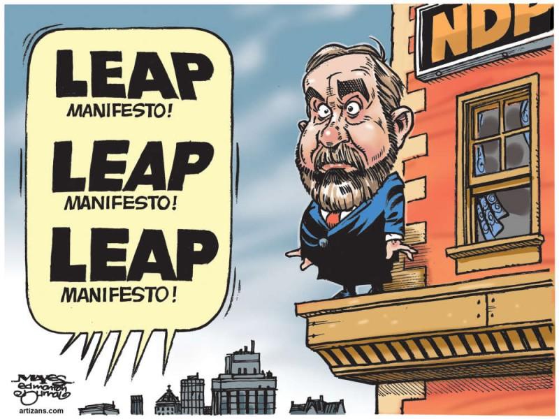 Карикатура на Тони Малкэра, возглавлявшего РДП с 2012 года