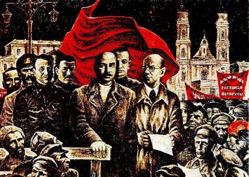 Фрагмент картины Леонида Дударенко «Минск, 1919» (1977).
